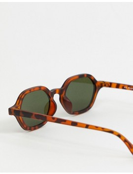 Aj Morgan Slim Square Sunglasses In Tort by Aj Morgan