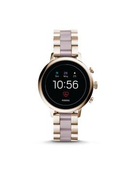 Gen 4 Smartwatch   Venture Hr Pastel Pink Stainless Steel by Fossil