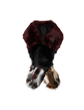 Faux Fur Striped Scarf by Sam Edelman