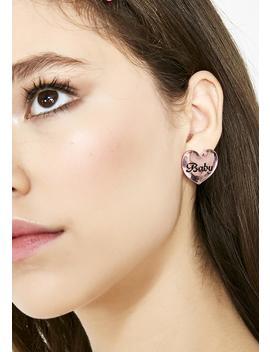 Cutie Bb Heart Earrings by Ciel