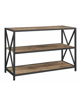 "We Furniture 40"" X Frame Metal & Wood Media Bookshelf by We Furniture"