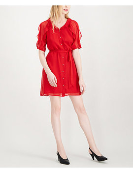 Ruffle Trimmed Shirtdress, Created For Macy's by Maison Jules