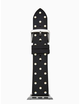 Black Dot Silicone 42/44mm Apple Watch® Strap by Kate Spade