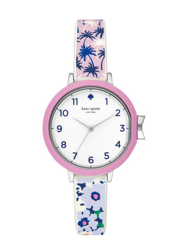 Park Row Tropical Silicone Watch by Kate Spade