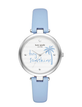 Varick Light Blue Leather Watch by Kate Spade