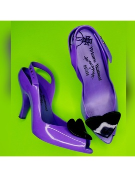 Melissa Lady Dragon Purple Black Heart Heels by Vivienne Westwood
