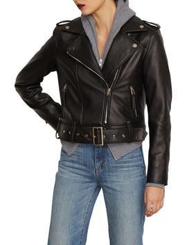 Aubrey Leather Moto Jacket by Habitual