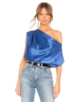 Asymmetrical Drape Top by Michelle Mason