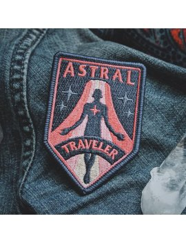 """Astral Traveler Patch   Metaphysical Fashion Accessory   3"""" Iron On Embroidered Patch   For Psychonauts & Dreamers by Etsy"""