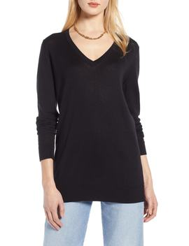 Relaxed V Neck Sweater by Halogen®
