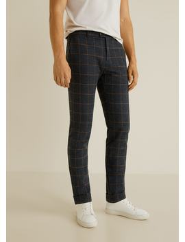 Regular Fit Mixed Structure Trousers by Mango