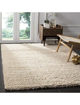 "Safavieh California Premium Shag Collection Sg151 1313 Beige Square Area Rug (6'7"" Square) by Safavieh"