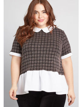 Glitzy Situation Collared Top by Modcloth
