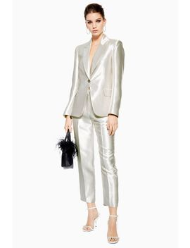 Tall Satin Clean Peg Trousers by Topshop