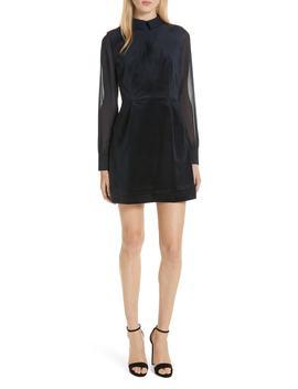 Lourah Georgette Sleeve Velvet Minidress by Ted Baker London