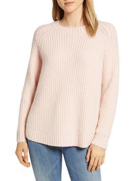 Shirttail Cotton Blend Sweater by Lou & Grey