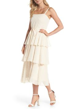 Florence Chiffon Embroidered Tiered A Line Dress (Nordstrom Exclusive) by Gal Meets Glam