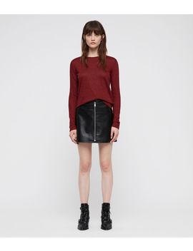 Esme Linen Stripe T Shirt by Allsaints