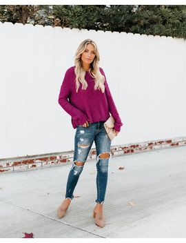 Jump For Joy Knit Sweater   Amethyst by Vici