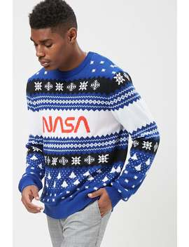 Nasa Fair Isle Knit Top by Forever 21