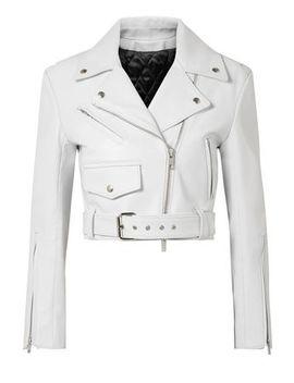 Cropped Leather Biker Jacket by Calvin Klein 205 W39 Nyc