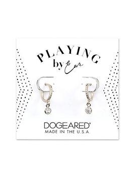 Dogeared Playing By Ear Silver Cz Earrings by Dogeared