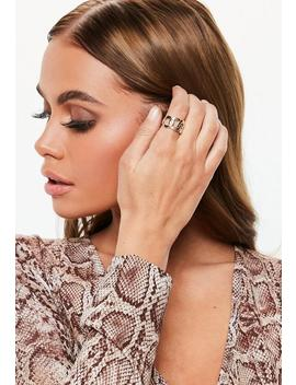Gold Look Chain Ring by Missguided