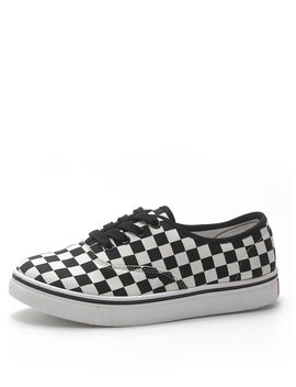 Lace Up Gingham Sneakers by Romwe