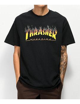 Thrasher Bbq Flame Black T Shirt by Thrasher