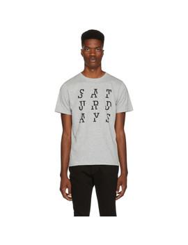 Grey 'saturdays' Split T Shirt by Saturdays Nyc