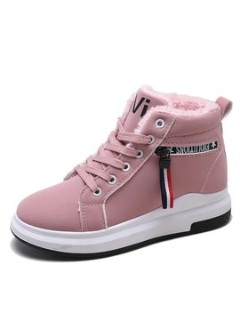 Faux Fur Lined Sneakers by Romwe