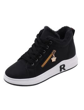 Side Zip Decor Sneakers by Romwe