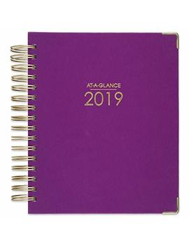"""At A Glance 2019 Daily & Monthly Planner, 7"""" X 8 3/4"""", Medium, Hardcover, Harmony, Berry (6099 806 59) by At A Glance"""