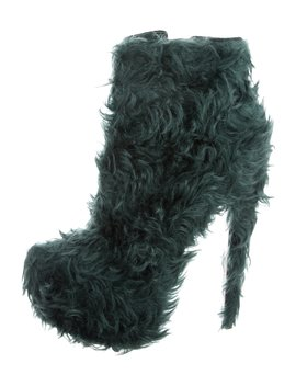 Daf Booty 160 Fur Ankle Boots by Christian Louboutin