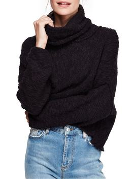 Big Easy Cowl Neck Crop Sweater by Free People