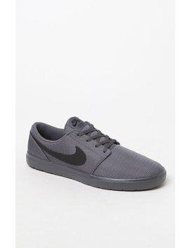 Nike Sb Portmore Ii Ultralight Grey & Black Shoes by Pacsun