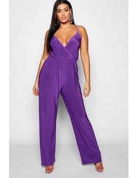 Plus Strappy Wide Leg Jumpsuit by Boohoo