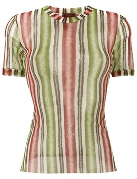 Striped Sheer Top by Jean Paul Gaultier Vintage