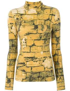 Bricks Print Top by Jean Paul Gaultier Vintage