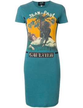 Logo T Shirt Dress by Jean Paul Gaultier Vintage