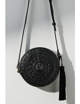 Woven Mini Circle Bag by Anthropologie