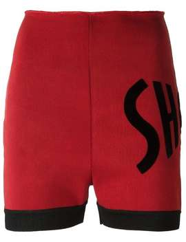 Letter Appliqué Shorts by Jean Paul Gaultier Vintage