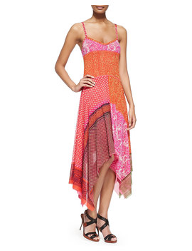 Patchwork Handkerchief Slip Dress by Neiman Marcus