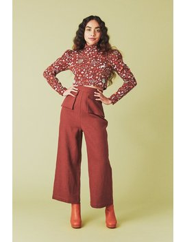 Samantha Pleet Fetching Pants   Crimson by Garmentory