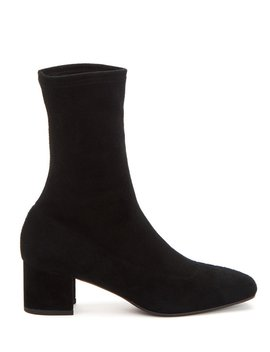 Janine Stretch Suede Booties by Aquatalia