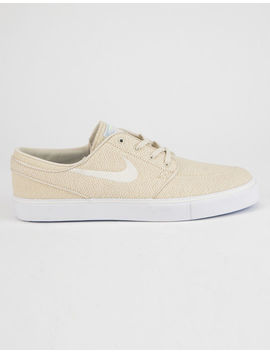 Nike Sb Zoom Stefan Janoski Canvas Fossil & Sail White Mens Shoes by Nike Sb