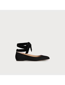 Maddy Black Suede Flats by L.K.Bennett