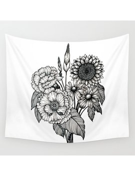 Country Bouquet Wall Tapestry by