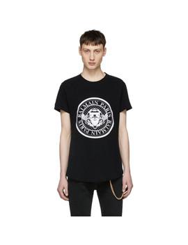 Black Logo Coin T Shirt by Balmain