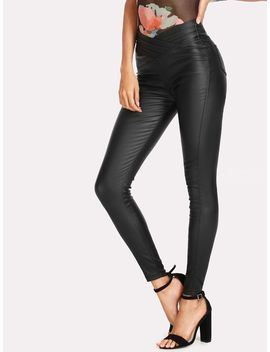 Solid Skinny Jeans by Shein